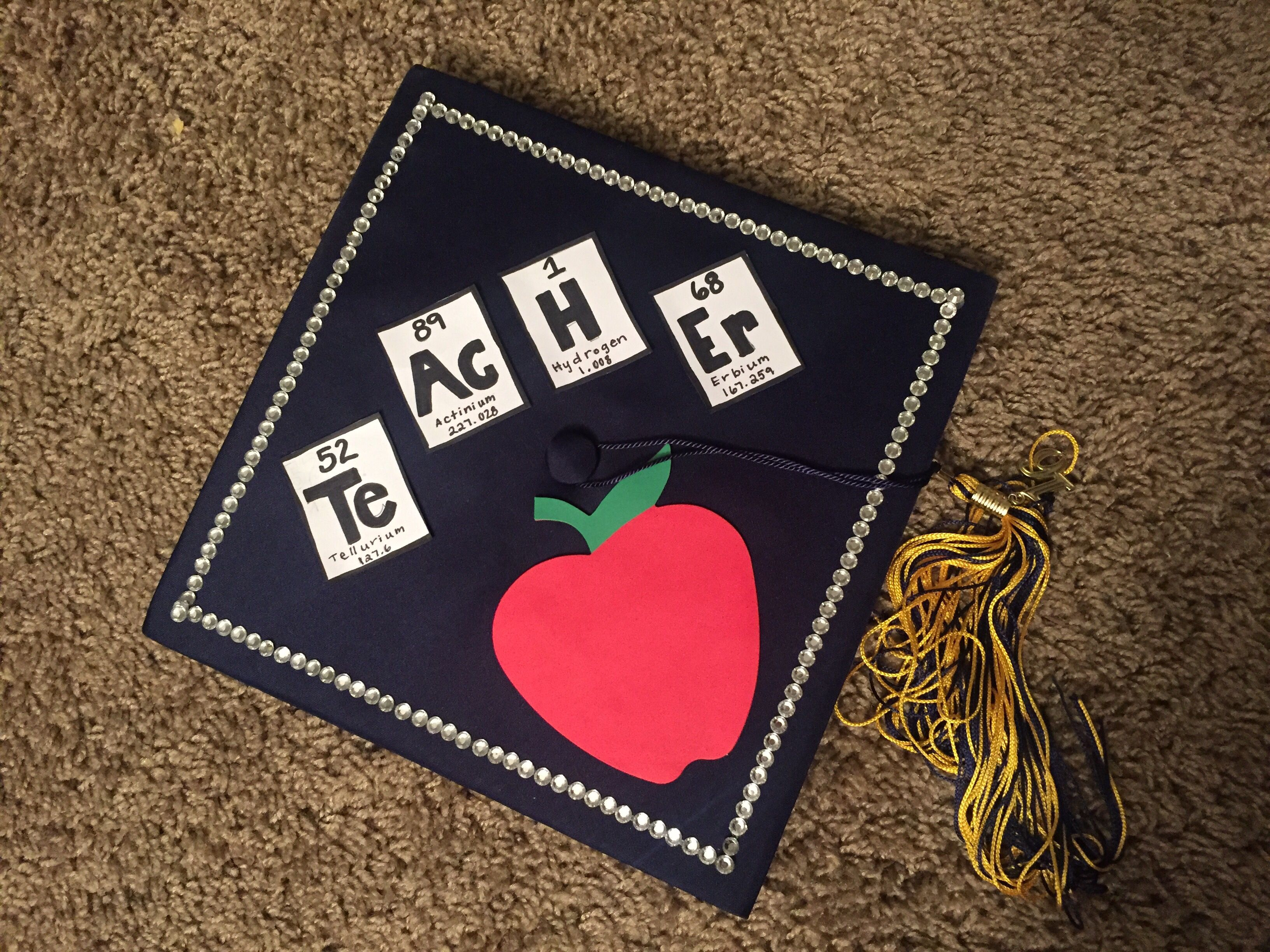 Decorating graduation cap ideas for teachers - Science Teacher Graduation Cap