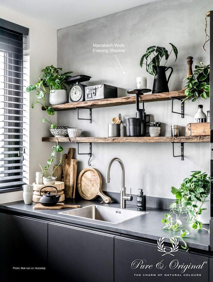 45 Amazing Grey White Black Living Room Industrial Decor Kitchen Kitchen Interior Kitchen Remodel