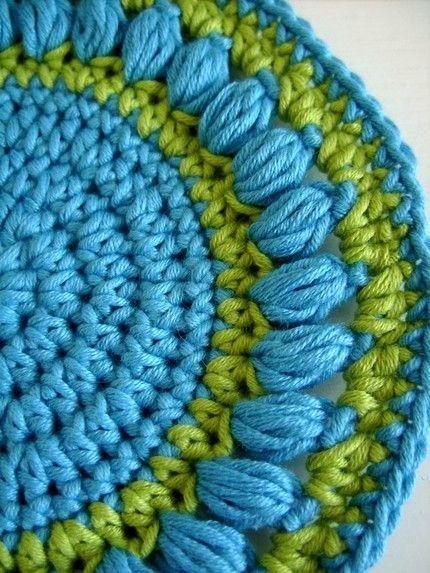 crochet round pot holders   Crochet Pattern Round pot holder with ...