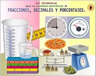 KIT DE MATEMÁTICAS: Internivelar para la Enseñanza-Aprendizaje de Fracciones, Decimales y Porcentajes ~ Juegos gratis y Software Educativo