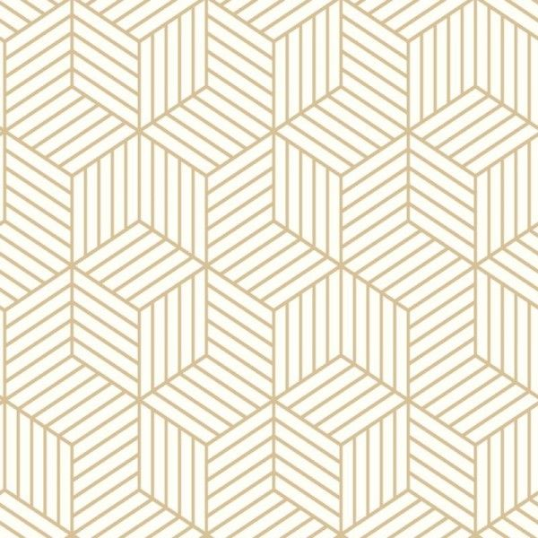 Striped Hexagon White Gold Rmk10704wp Peel Stick York Wallcoverings Wallpaper Warehouse Peel And Stick Wallpaper White And Gold Wallpaper Vinyl Wallpaper