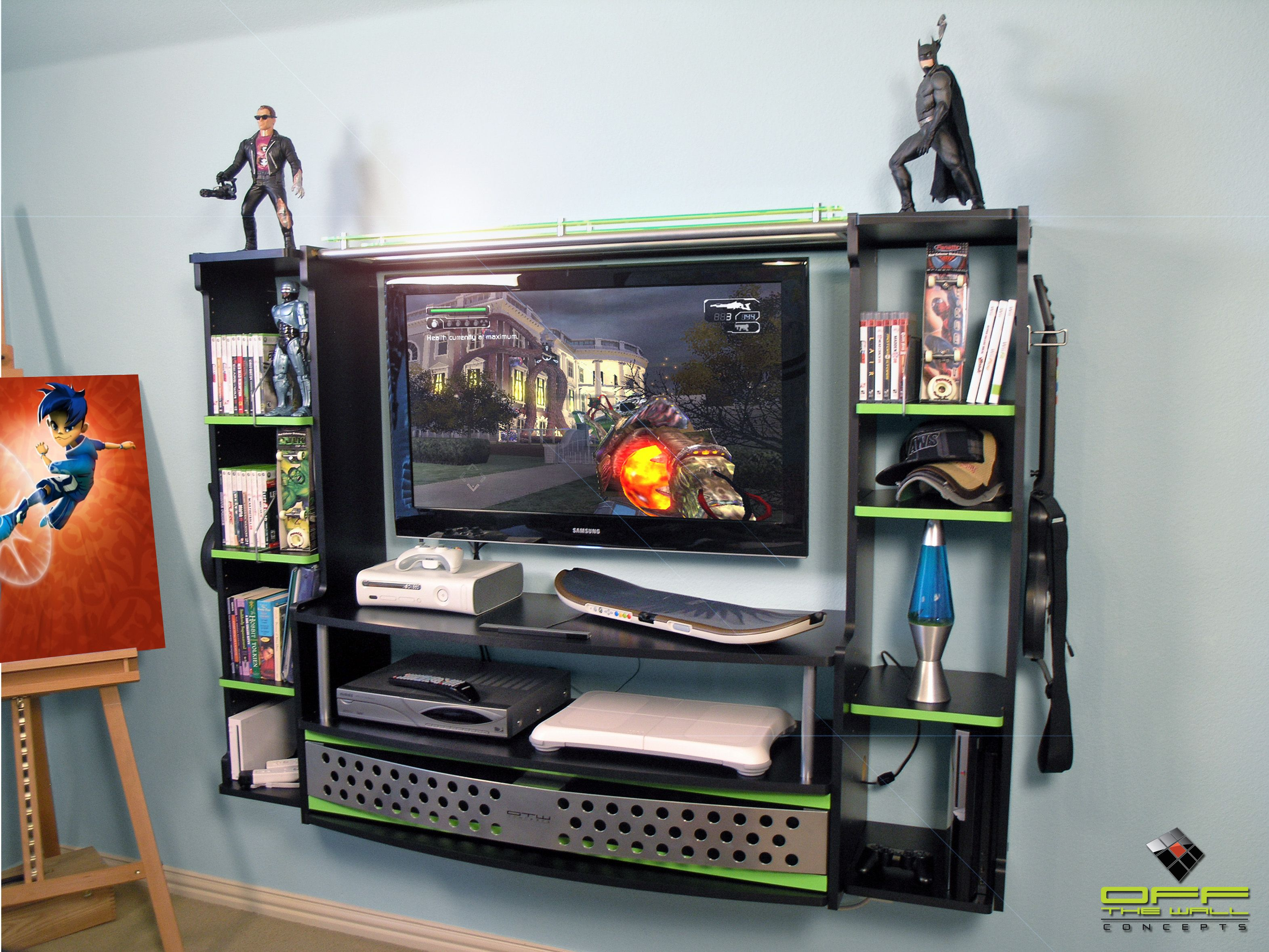 This List Of The Most Advanced Smart And Innovative Video Game Room Ideas Will Guide You To Find A Desi Bedroom Entertainment Center Gamer Bedroom Gamer Room