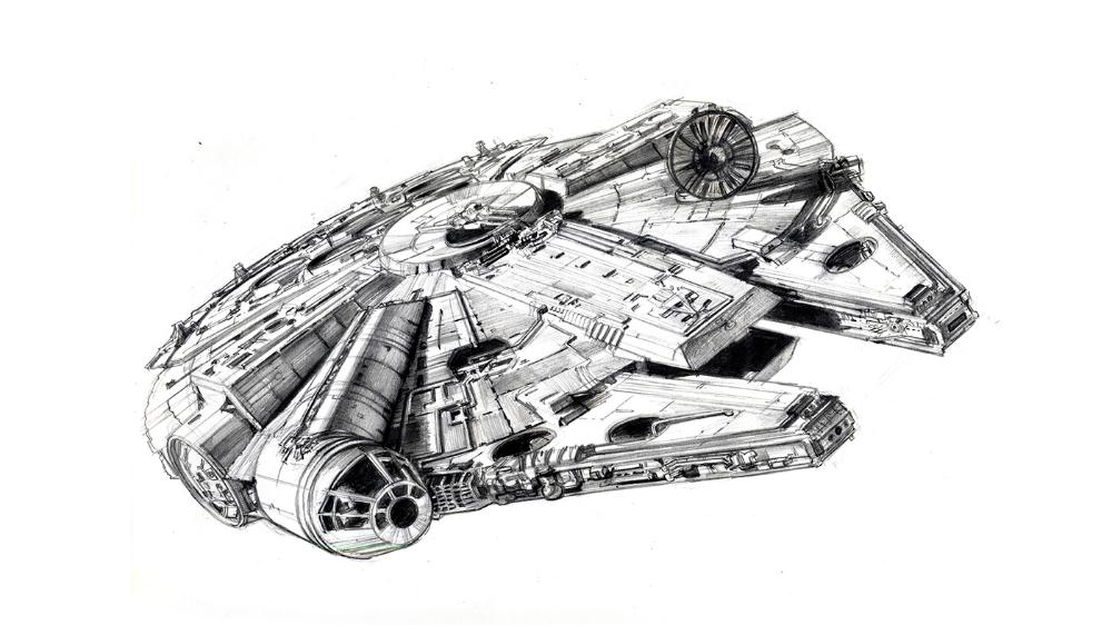 Millennium Falcon Still Life On Behance Star Wars Drawings Star Wars Tattoo Star Wars Art