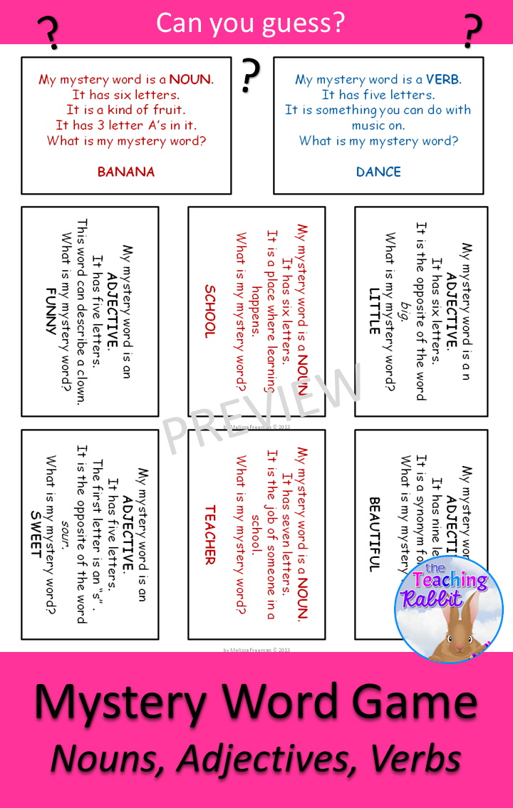 Nouns Adjectives And Verbs Game Tpt Language Arts Lessons