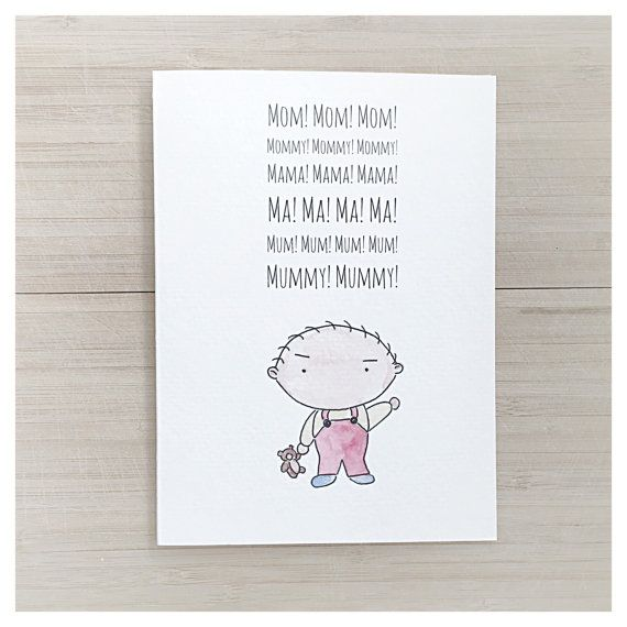 Family Guy Card Mothers Day Card Card For Mom Funny Mothers Day