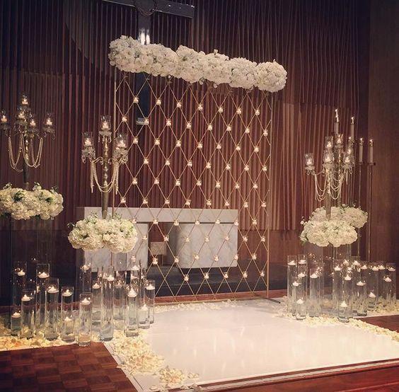 Backdrop Wedding Stage Decoration With Flowers Valoblogi Com