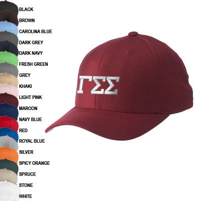 Gamma Sigma Sigma Flexfit Fitted Hat Yupoong 6277 Emb In 2020 Gamma Sigma Sigma Fitted Hats Sigma Kappa