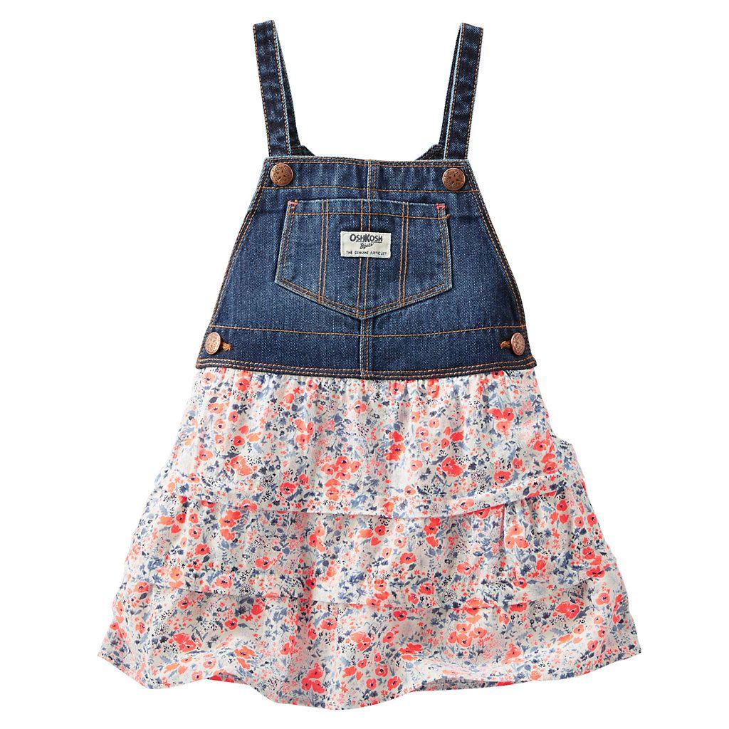 4ece4834c8 Baby Girl OshKosh B gosh® Tiered Jumperall Dress