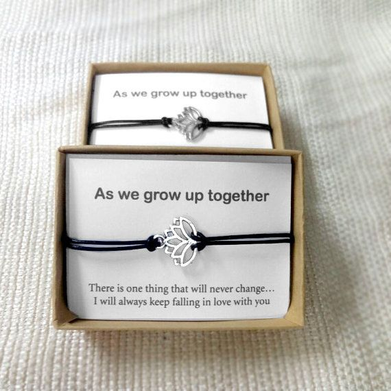 His And Hers Lotus Bracelet Love Couple Bracelet Couples Gift