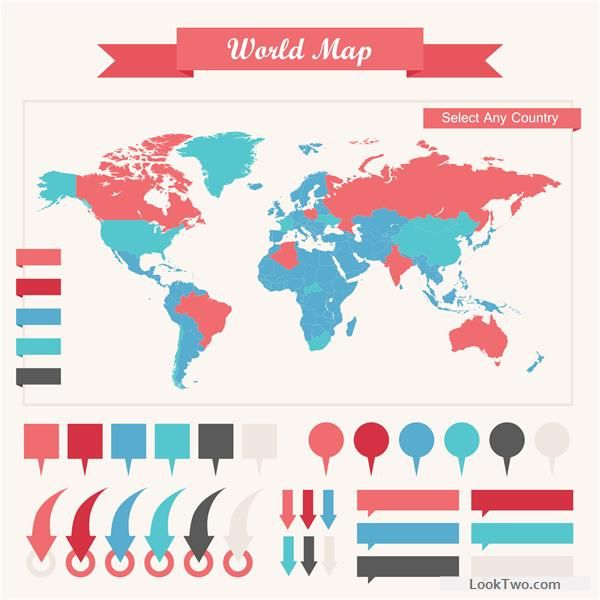 World map with business infographic vector 03 free vector download world map with business infographic vector 03 free vector download gumiabroncs Images