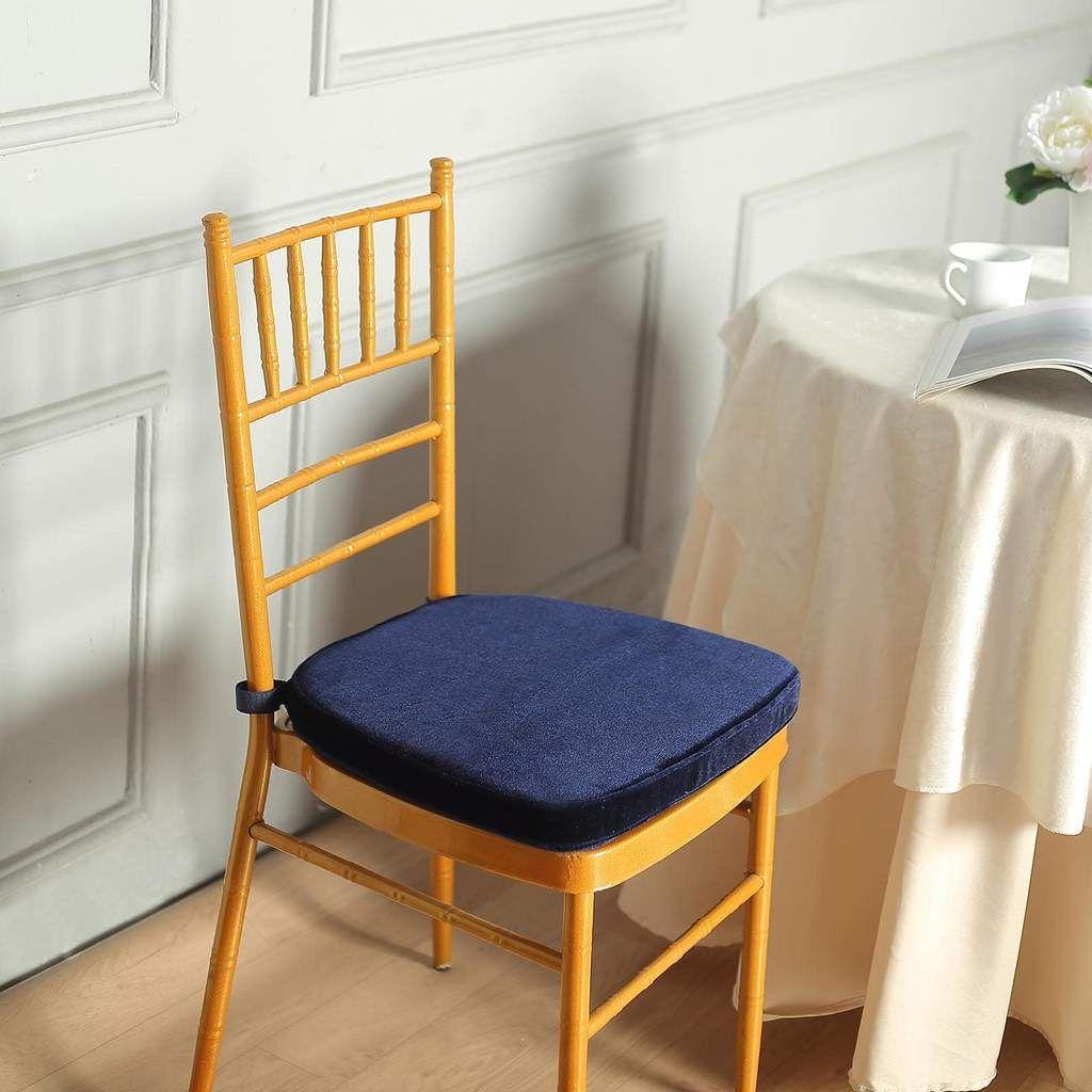 navy blue velvet chair cushions