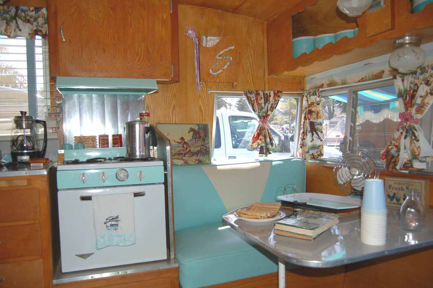1962 Shasta Airflyte Trailer With Beautiful Seafoam And