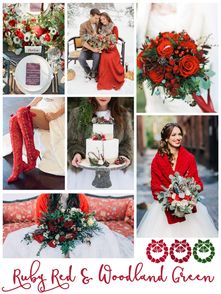Ruby Red And Woodland Green Wedding Inspiration Red Wedding Theme