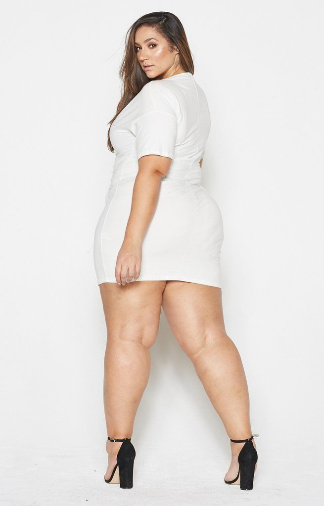 White Corset Tee Dress Shop Love Yourz Curvy Erica