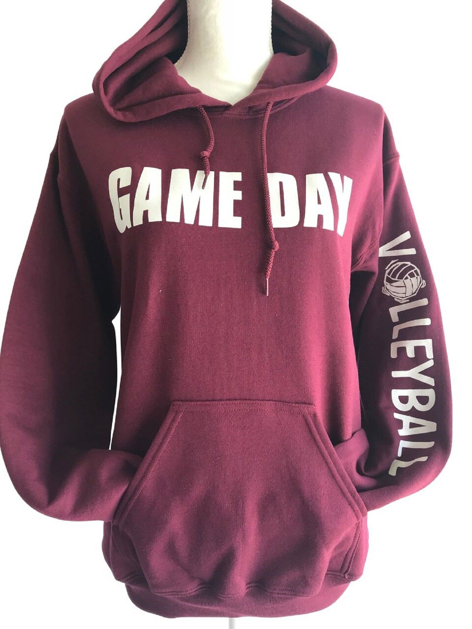Game Day Volleyball Hooded Sweatshirt Withvolleyball Headband And Bracelet Sweatshirts Volleyball Sweatshirts Volleyball Shirts