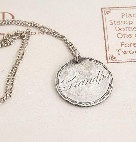 Grandpa Love Token Necklace