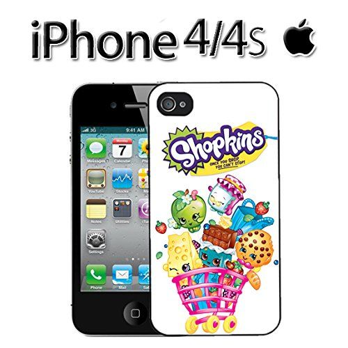 brand new eb181 613a9 Ships From U S A White Shopkins Cookie Cookie iPhone 4 / 4s Snap-on ...