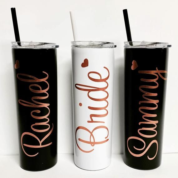 Bridesmaid Gift Rose Gold Personalized Wine Tumbler Employee Appreciation Gift Custom Bridesmaid Gif #employeeappreciationideas