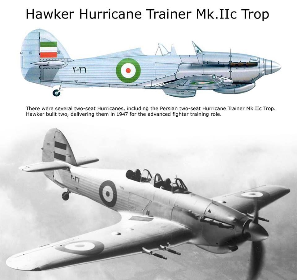 Hawker Hurricane Trainer Mk Iic Trop Wwii Aircraft Hawker Hurricane Wwii Airplane