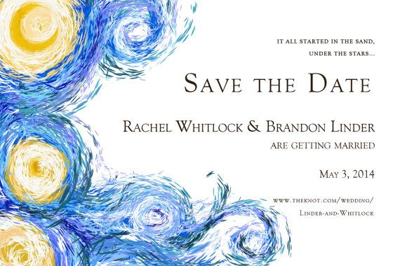 Starry Night DIGITAL wedding invitation Van Gogh by BlackWhisker