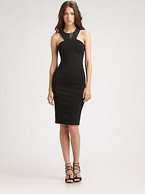 Sachin + Babi Keely Ponte & Leather Dress gorgeous $140.07