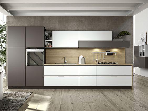 cucina_lineare_milanesejpg (1200×900) Cocinas pequeñas
