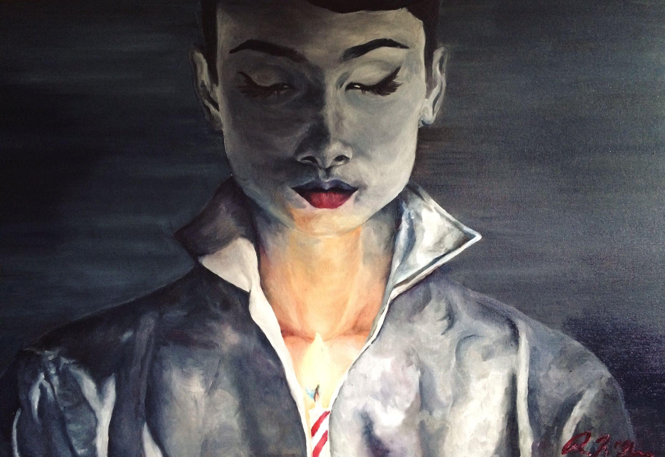 """""""Make a wish"""" Oil paint #art #portrait"""