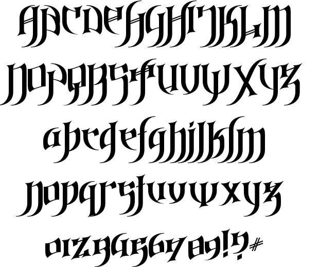 Medieval script fonts gothic lettering font posted on