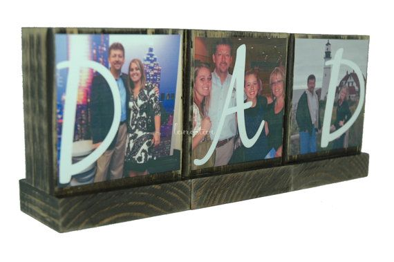 PERSONALIZED PHOTO GIFTS-Great Fathers Day Gifts for Dad,Pop-Personalized wooden photo blocks