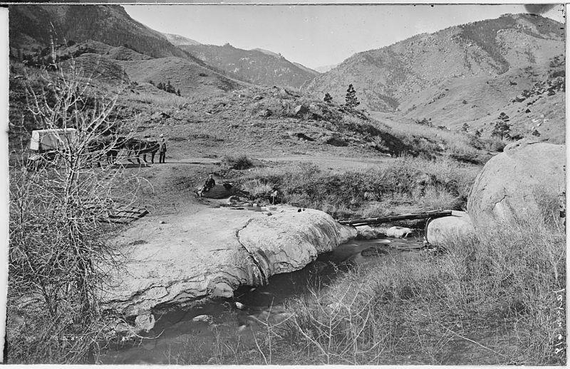 Soda Springs in Manitou Springs - 1870. Believe it or not, the big ...