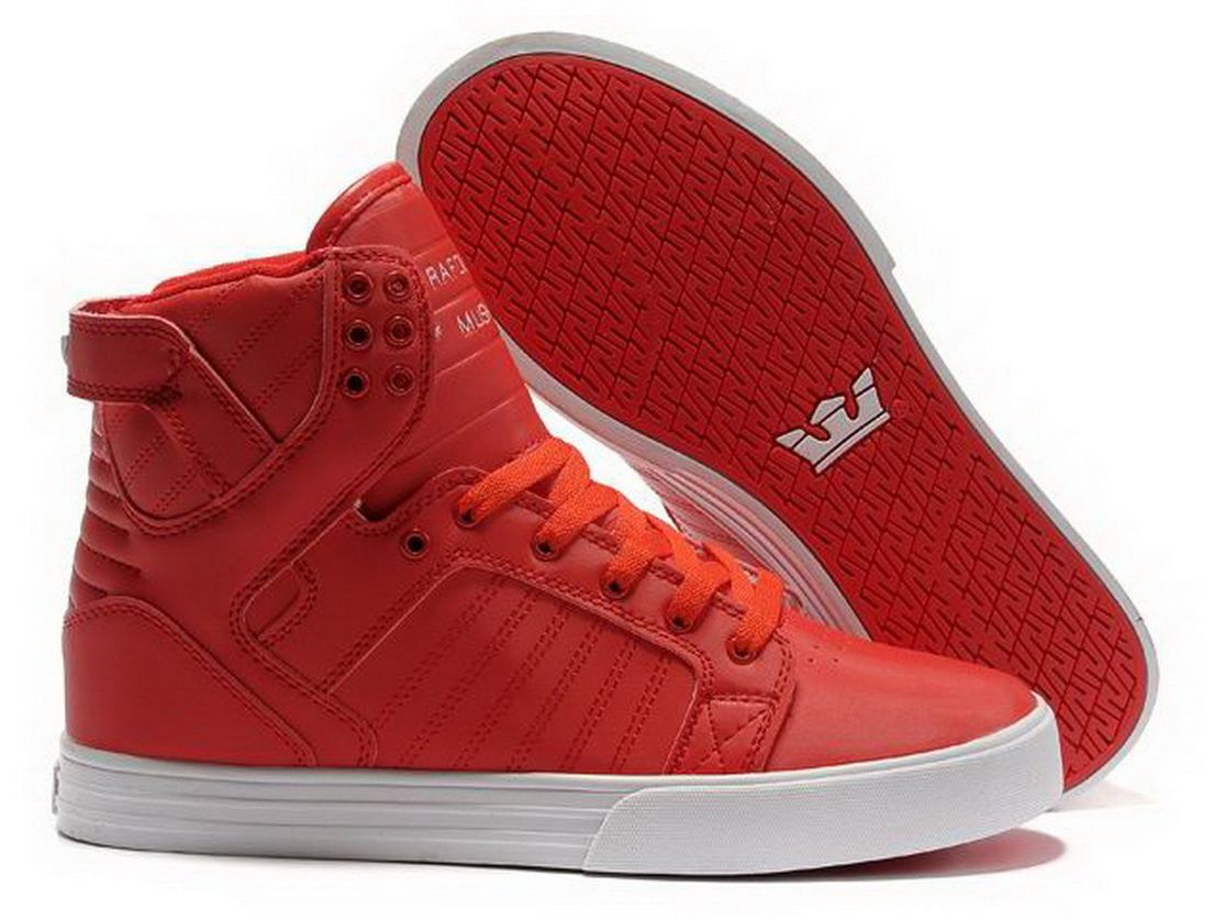 88939cbebfe6 Special sales Chad Muska Skytop High Top Womens Red White Red Shoes The Supra  Shoes Sale Shop