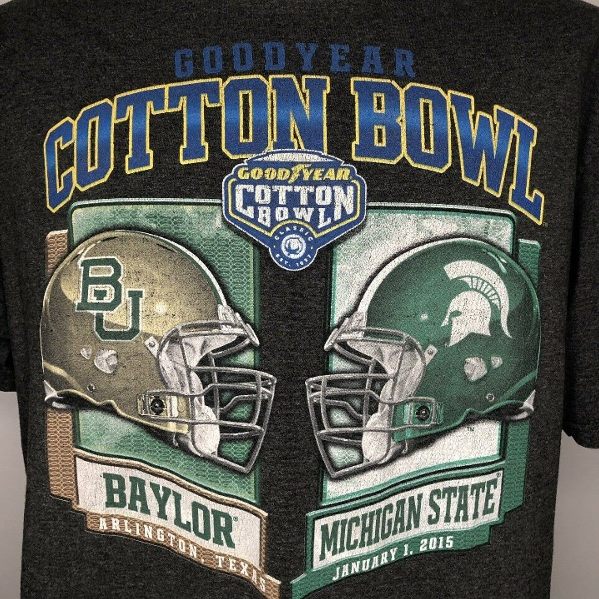 2015 Cotton Bowl T Shirt Michigan State in 2020 Cotton