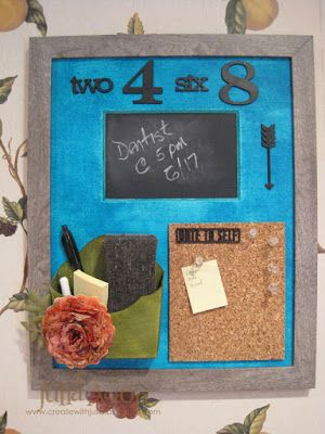 Create With Me: Framed Kitchen Message Center