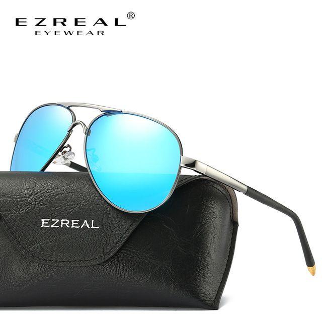 EZREAL Nova Marca Polarizada Óculos De Sol Dos Homens Retro Clássico Piloto  Óculos Cor Lentes Polaroid Mulheres Óculos de Sol Óculos de Condução 8503 9e4473ef79