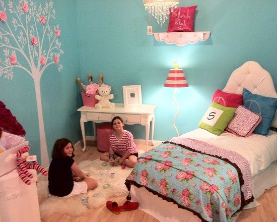Tiffany Blue Aqua And Hot Pink Girls Bed Design Pictures Remodel