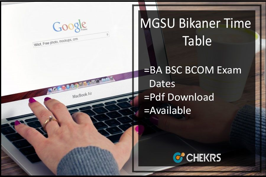 MGSU Bikaner UG Annual Time Table 2019 Check Here