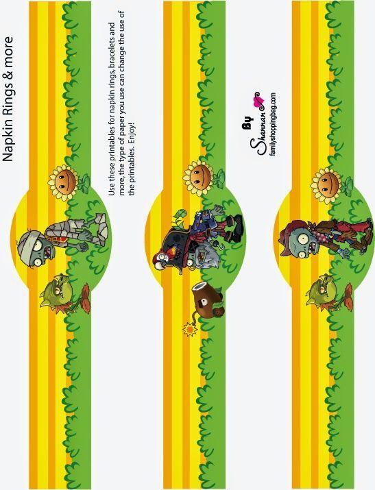 Plantas vs Zombies Botellas de agua Pinterest – Zombie Party Invitations Free