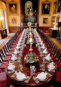 Highclere Castle Floor Plan  The Real Downton Abbey   Pinterest     The dining room at Highclere castle