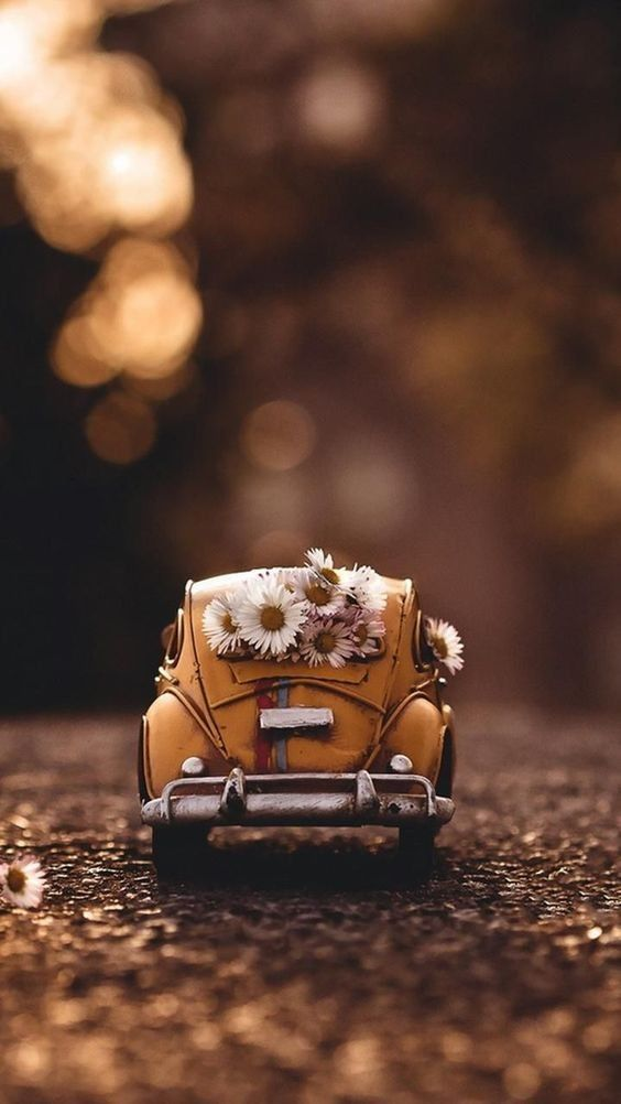 Small Cute Car With Flowers Car Wallpapers Cool Pictures For Wallpaper Iphone Wallpaper Hipster