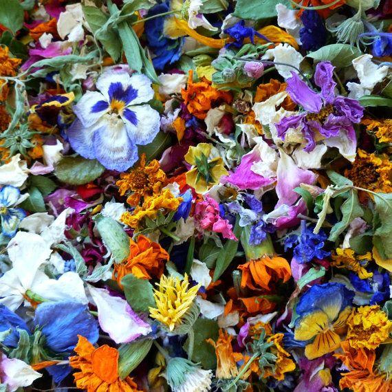 Larkspurhill Shared A New Photo On Etsy Dried Flower Confetti Green Wedding Decorations Wedding Petals