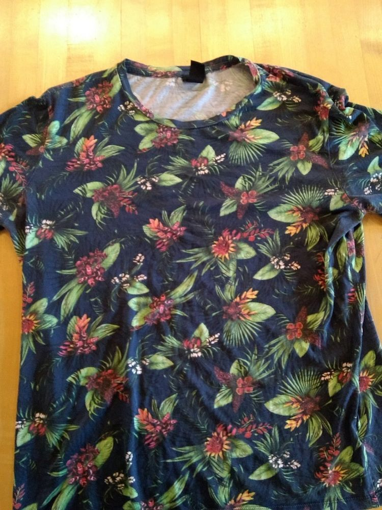 ef706ad9 H&M Hawaiian Tropical Shirt Large #fashion #clothing #shoes #accessories  #mensclothing #shirts (ebay link)
