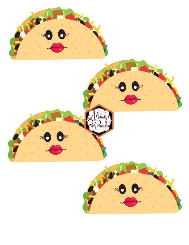 Woman Tacos from a Taco Bout Love Valentine Taco Party | Mandy's Party Printables #valentineparty #tacoparty #tacoboutlove #ilovetacos #MPP #fiesta