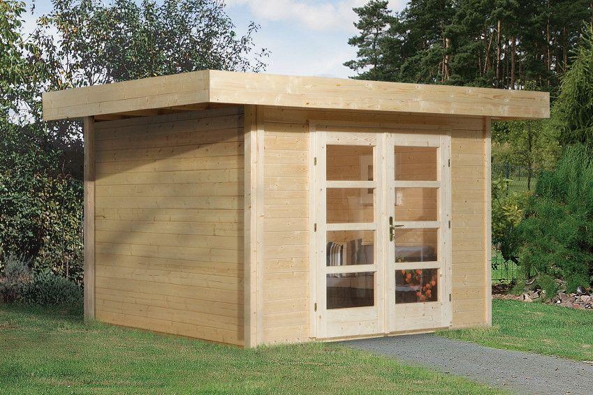 Doppeltür Holz gartenhaus flachdach weka chill out größe 3 design mit doppeltür