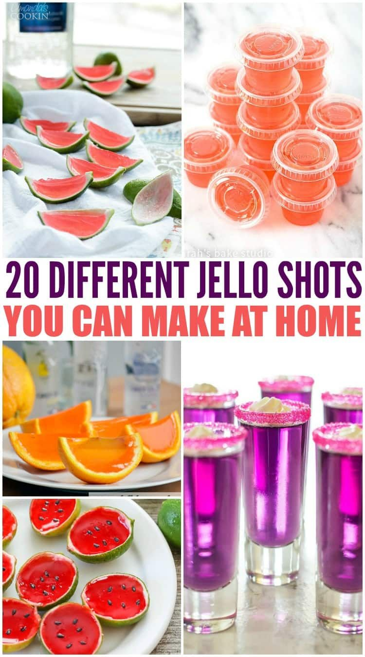 Wondering how to make jello shooters? These jello shooter recipes have alcohol in them and are so easy to make! Margarita, caramel apple, strawberry, watermelon and much more! #jelloshots