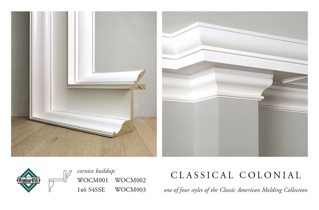 Classical Colonial Crown Molding Buildup Moldings And Trim Crown Molding Diy Crown Molding