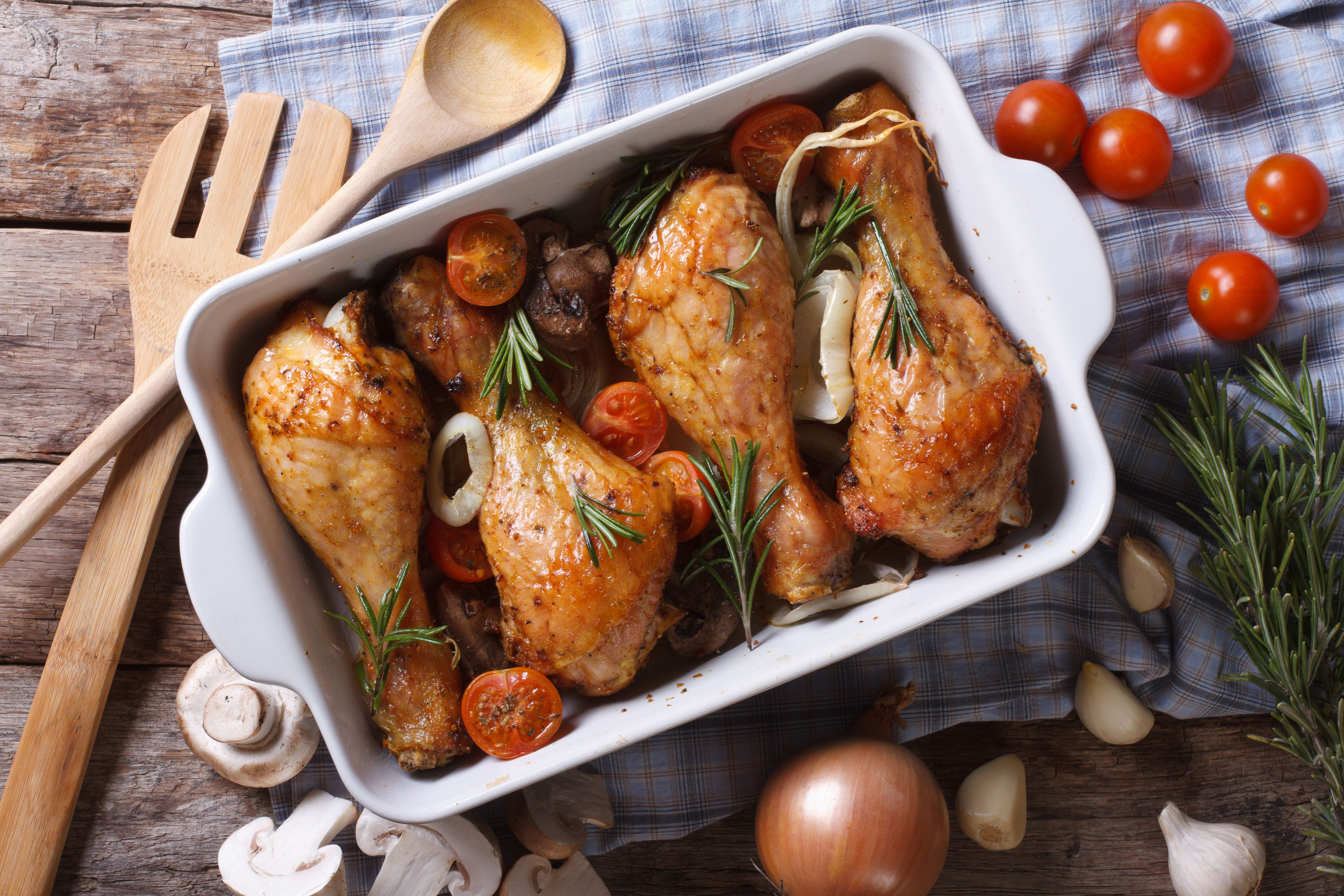 How To Bake Boiled Chicken Legs In The Oven Livestrong Com Baked Chicken Legs Baked Chicken Chicken Leg Recipes