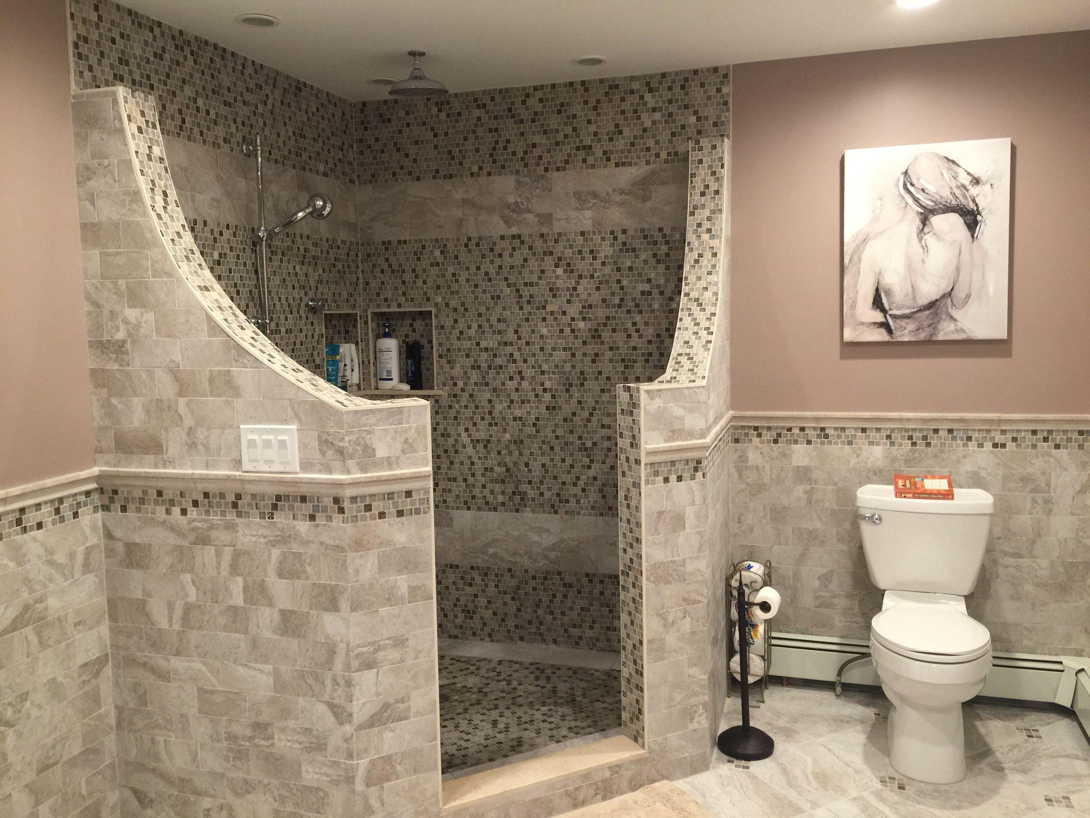 Doorless Shower Bathroom Remodel Shower Bathrooms Remodel Shower Remodel