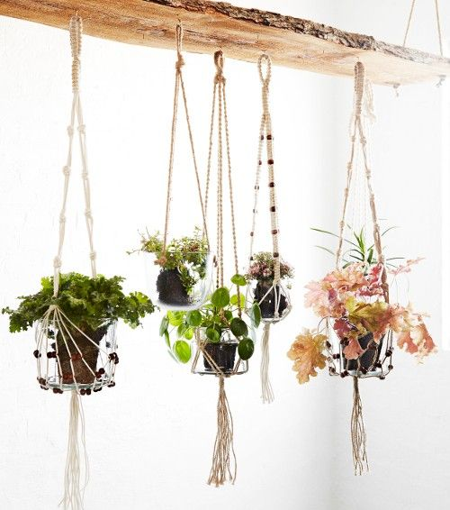 support pour plante en corde de jute madam stoltz macram pinterest plantes suspendues. Black Bedroom Furniture Sets. Home Design Ideas