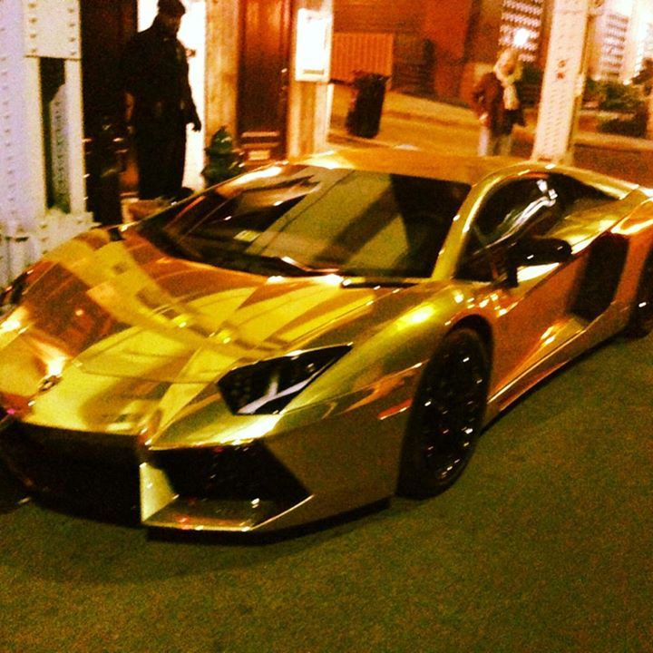 24k Gold Lamborghini Aventador Parked In Washington Dc Owned By An