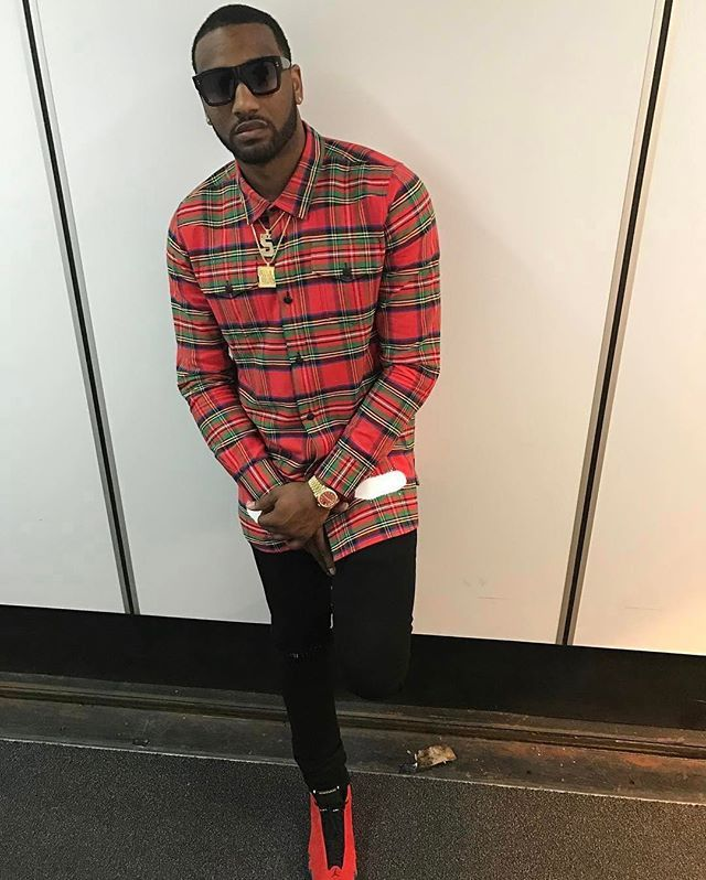 23114908f83 Instagram media by upscalehype - #JohnWall (@johnwall) wearing #Dita  sunglasses, #offwhite plaid shirt, and Air Jordan 14 #Ferrari Sneakers.  #NBAStyle